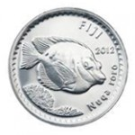 5c coin features the Nuqa Roro (Bi-coloured fox faced Rabbit fish)