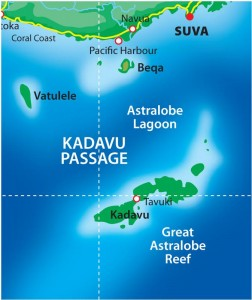 Kadavu and Beqa Map