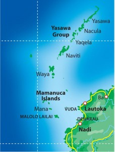 Yasawa and Mamanuca Islands Map